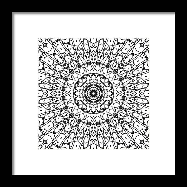 Kaleidoscope Framed Print featuring the digital art Kaleidoscope 706 by Kristalin Davis