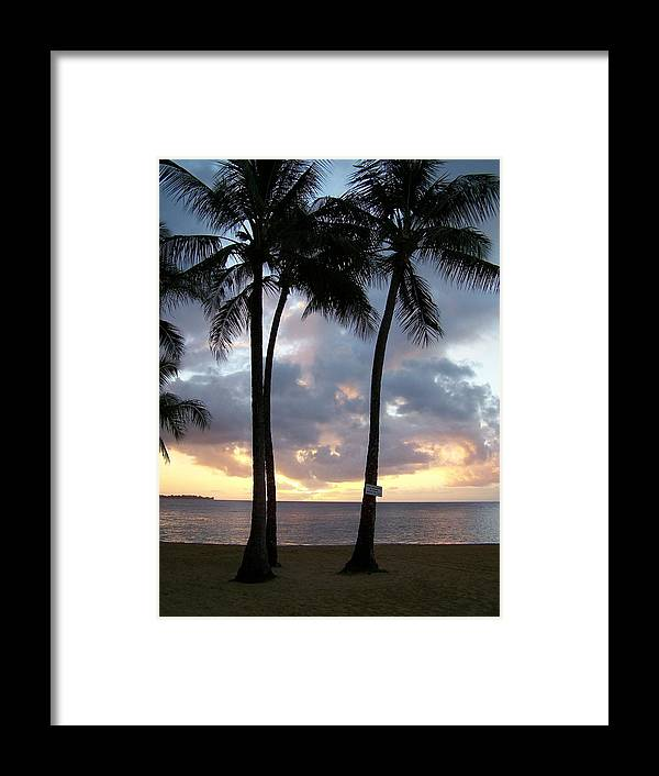 Sunset Framed Print featuring the photograph Kauai Sunset by Lara Henderson