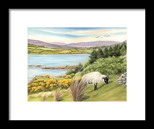 Lough Corrib Framed Print featuring the painting King Of The Hill by Vanda Luddy