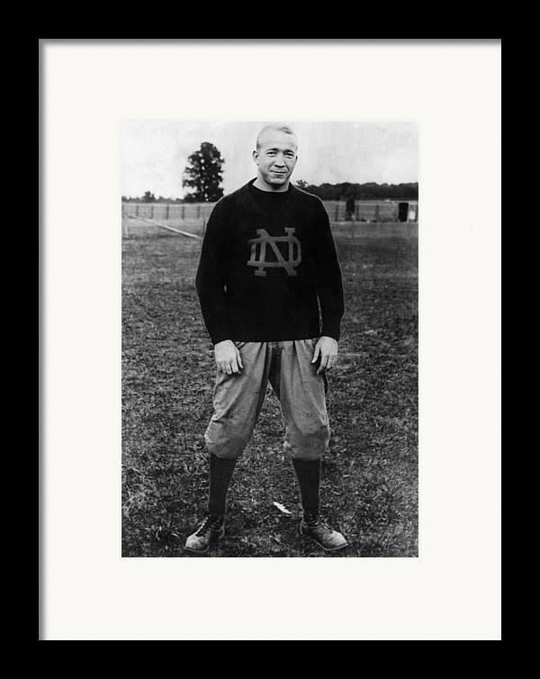 1930s Portraits Framed Print featuring the photograph Knute Rockne, University Of Notre Dame by Everett
