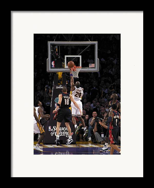 People Framed Print featuring the photograph Kobe by Marc Bittan