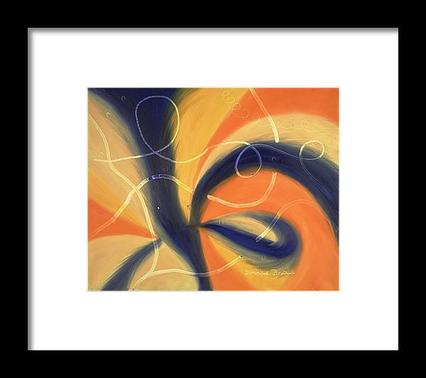 Abstract Framed Print featuring the painting L by Dominique Boutaud
