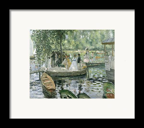 Grenouillere Framed Print featuring the painting La Grenouillere by Pierre Auguste Renoir