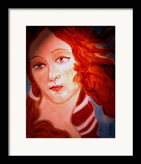 Venus Framed Print featuring the painting La Pastiche by Rusty Woodward Gladdish