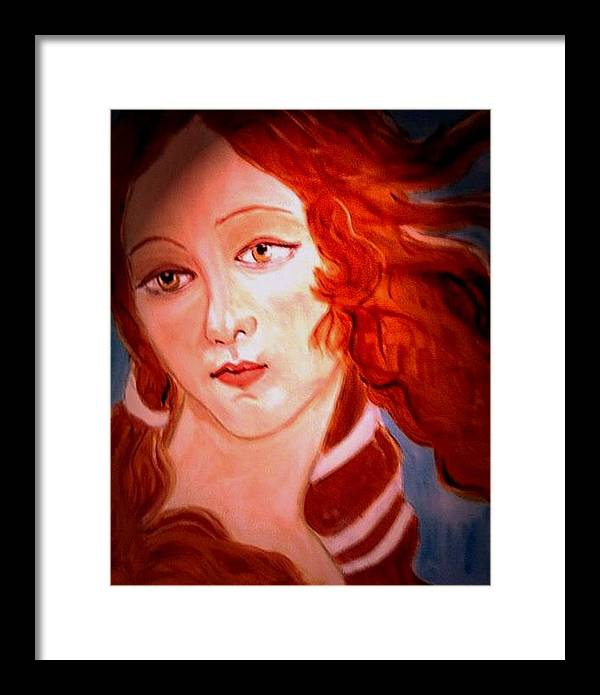 Venus Framed Print featuring the painting La Pastiche by Rusty Gladdish