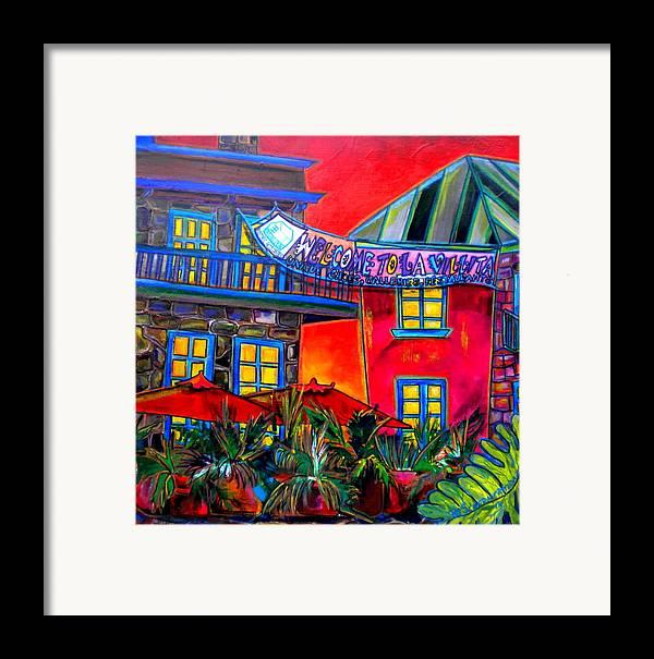 San Antonio Framed Print featuring the painting La Villita Entrance by Patti Schermerhorn