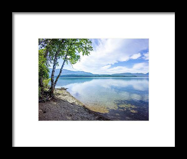 Park Framed Print featuring the photograph Lake Mcdonald In Glacier National Park Montanaa by Alex Grichenko