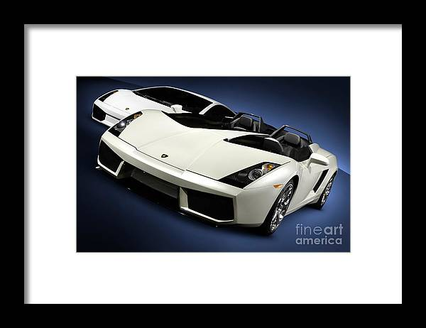 Lamborghini Framed Print featuring the photograph Lamborghini Super Cars by Maxim Images Prints
