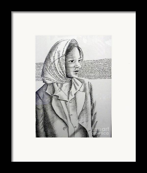 Language Framed Print featuring the drawing Language Of Cloth by Tanni Koens