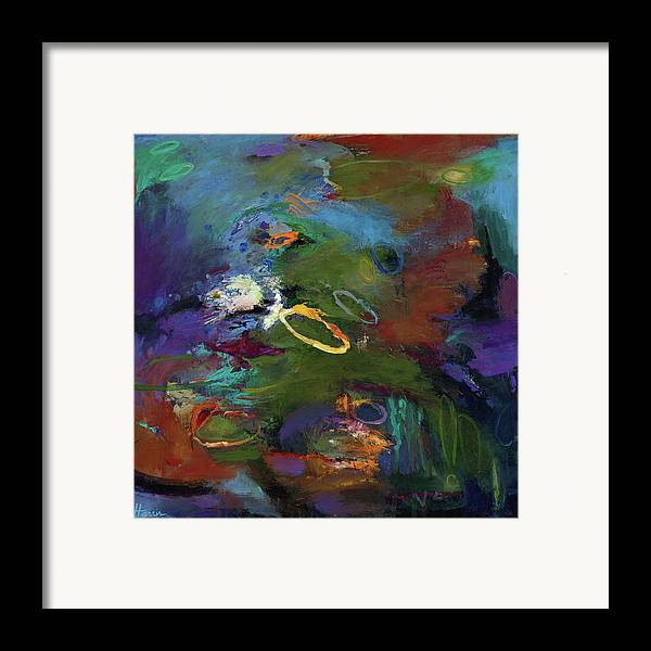 Abstract Expressionistic Framed Print featuring the painting Late Last Night by Johnathan Harris