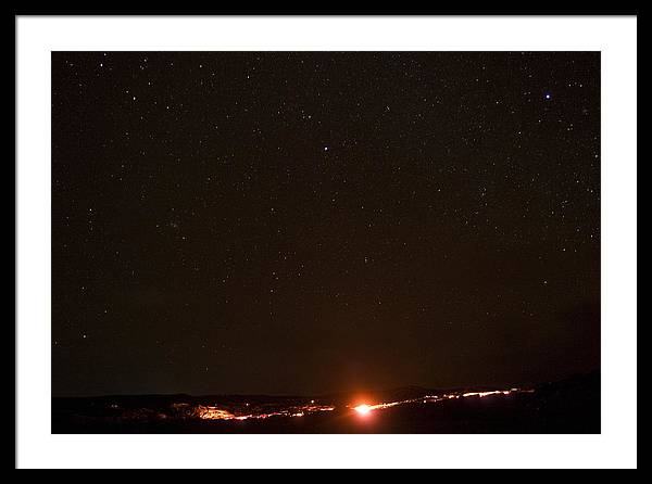 Hawaii Framed Print featuring the photograph Lava And Stars In Hawaii by Fredrik Schenholm