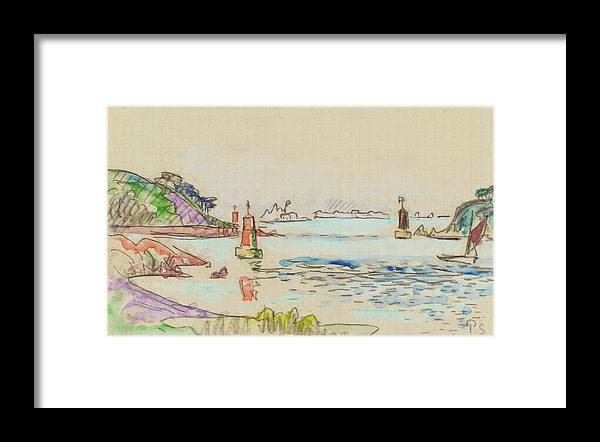 Paul Signac 1863 - 1935 Le Trieux (balises) Framed Print featuring the painting Le Trieux by MotionAge Designs