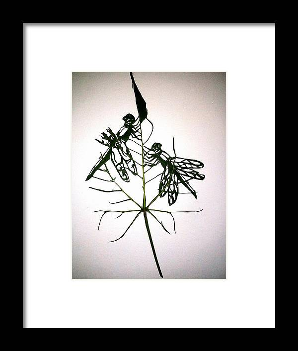 Portrait Framed Print featuring the painting Leafcarving by Deepan Sa