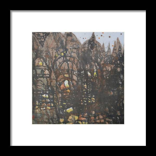 Chinese Painting Framed Print featuring the painting Legend Of Old Castle by Zi De Chen