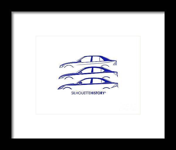 Japanese Car Framed Print featuring the digital art Lexury Silhouettehistory by Gabor Vida
