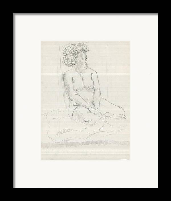 Framed Print featuring the drawing Life Drawing by Joseph Arico