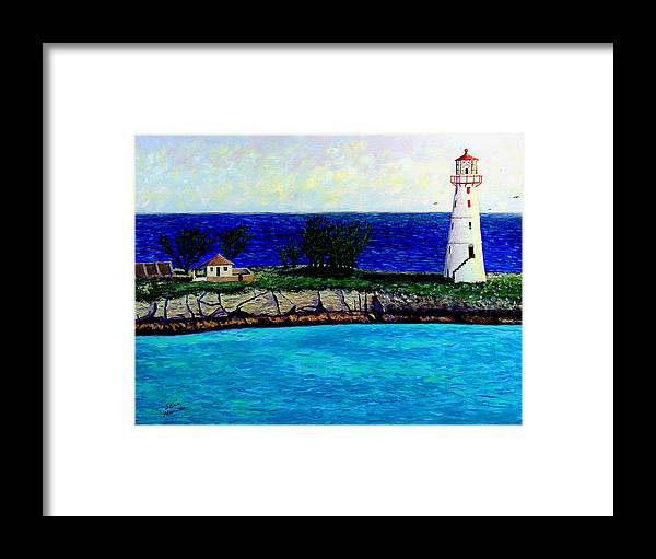 Lighthouse Framed Print featuring the painting Lighthouse IIi by Stan Hamilton