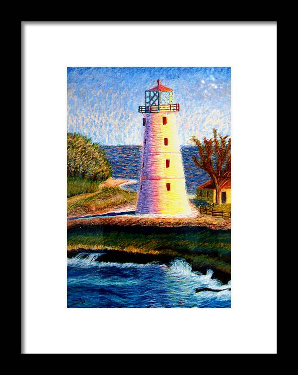 Lighthouse Framed Print featuring the painting Lighthouse by Stan Hamilton