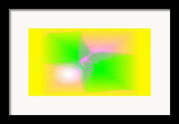 Digital Art Framed Print featuring the digital art Lightness by Andreas R Wesener