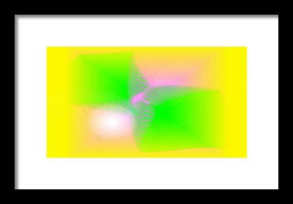 Digital Art Framed Print featuring the digital art Lightness by Andreas R Wesener