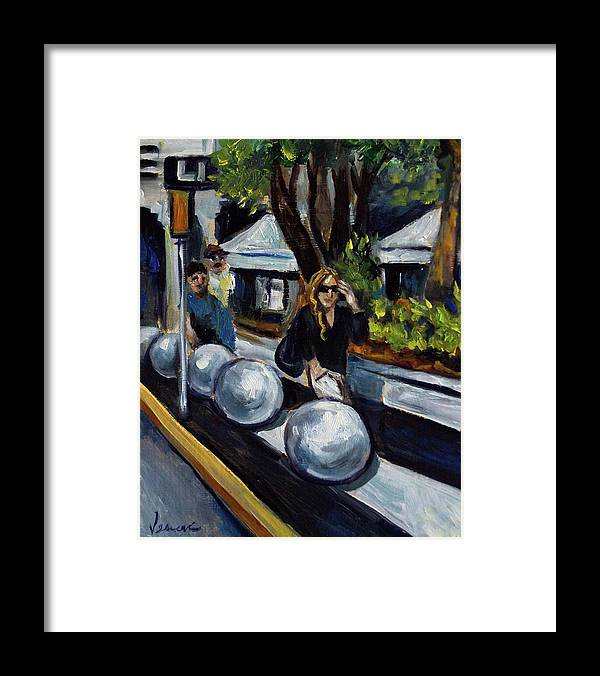 Sobe Framed Print featuring the painting Lincoln Road by Valerie Vescovi