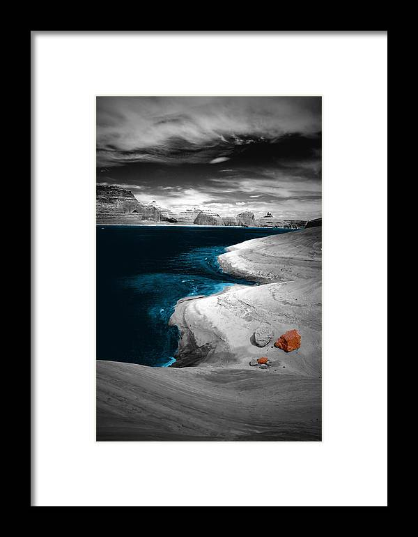 Photography Framed Print featuring the photograph Liquid Blue Inlets by Tom Fant