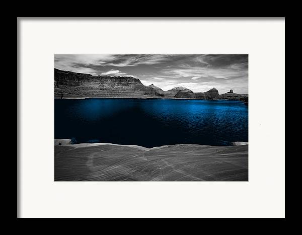 Photography Framed Print featuring the photograph Liquid Blue by Tom Fant