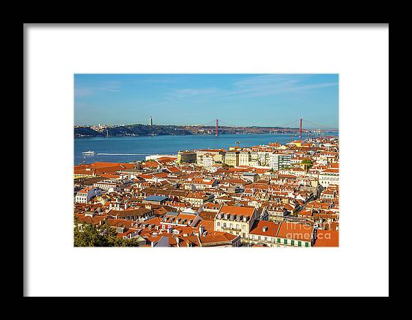 Lisbon Framed Print featuring the photograph Lisbon Skyline Portugal by Benny Marty