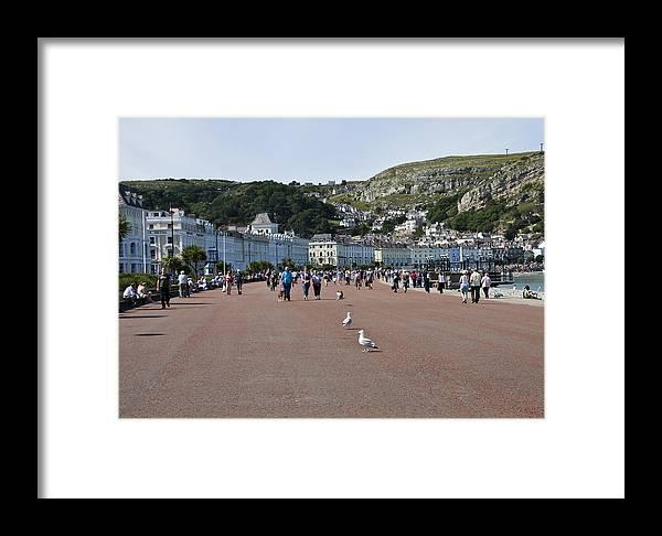 Aqua Framed Print featuring the photograph Llandudno Beach by Svetlana Sewell
