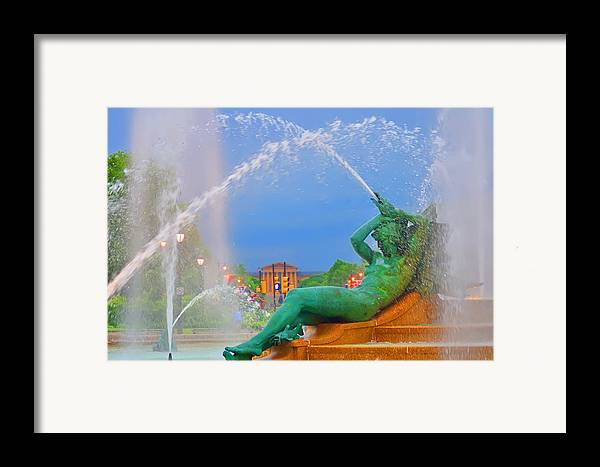 Fountain Framed Print featuring the photograph Logan Circle Fountain 1 by Bill Cannon