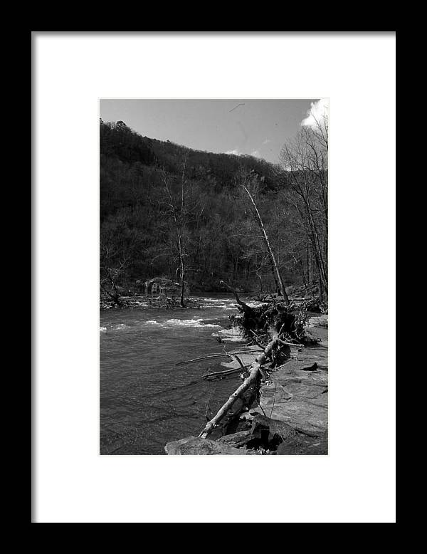 Framed Print featuring the photograph Long-pool-log-jam by Curtis J Neeley Jr