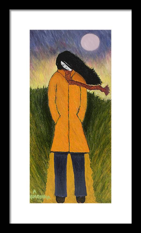 Figurative Framed Print featuring the painting Long Winter Coming by Albert Almondia