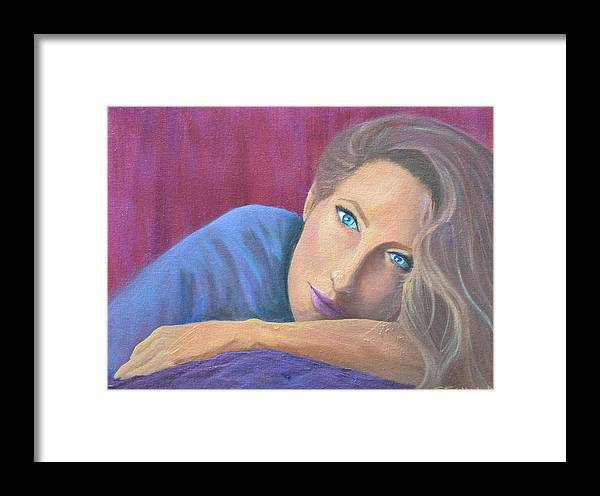 Figure Framed Print featuring the painting Looking At You by Sheryl Sutherland
