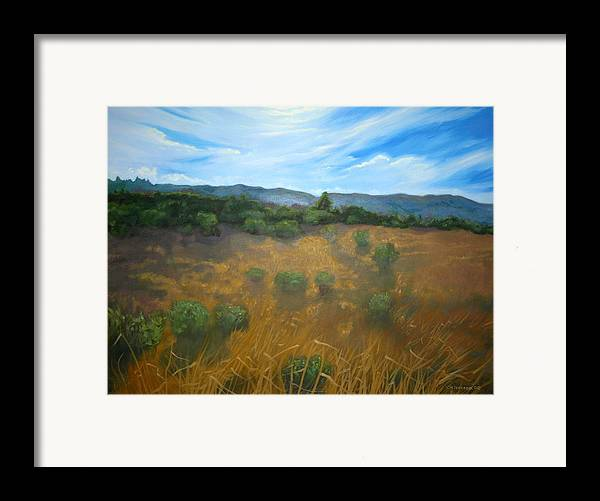 Landscape Framed Print featuring the painting Looking Back To Betteravia by Jill Iversen