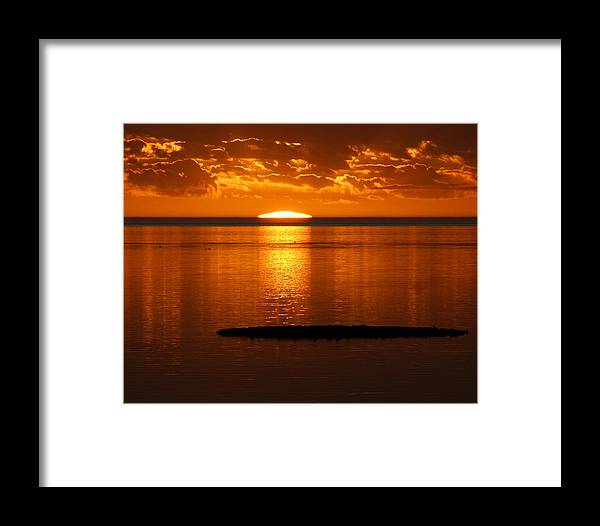 Sunset Framed Print featuring the photograph Looking For The Green Flash by Debbie May