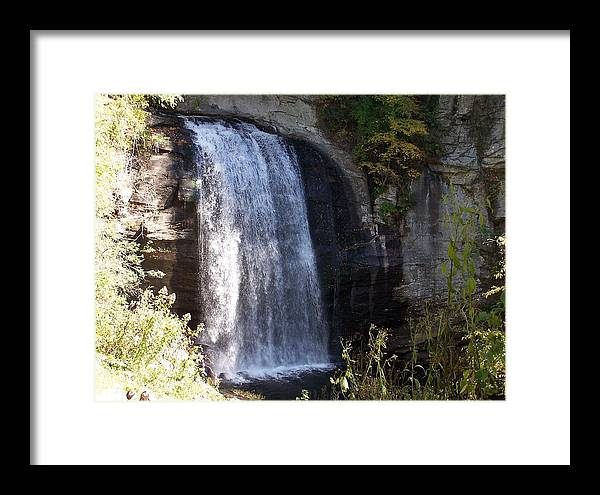 Waterfall Framed Print featuring the photograph Looking Glass Falls by Audrie Sumner