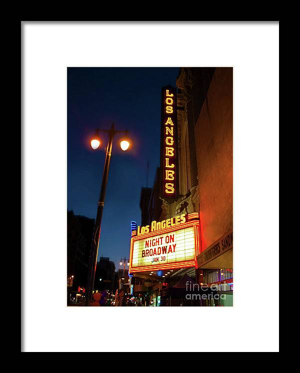 Los Angeles Framed Print featuring the photograph Los Angeles by Gregory Dyer