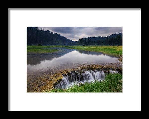 Water Framed Print featuring the photograph Lost Lake by Cat Connor