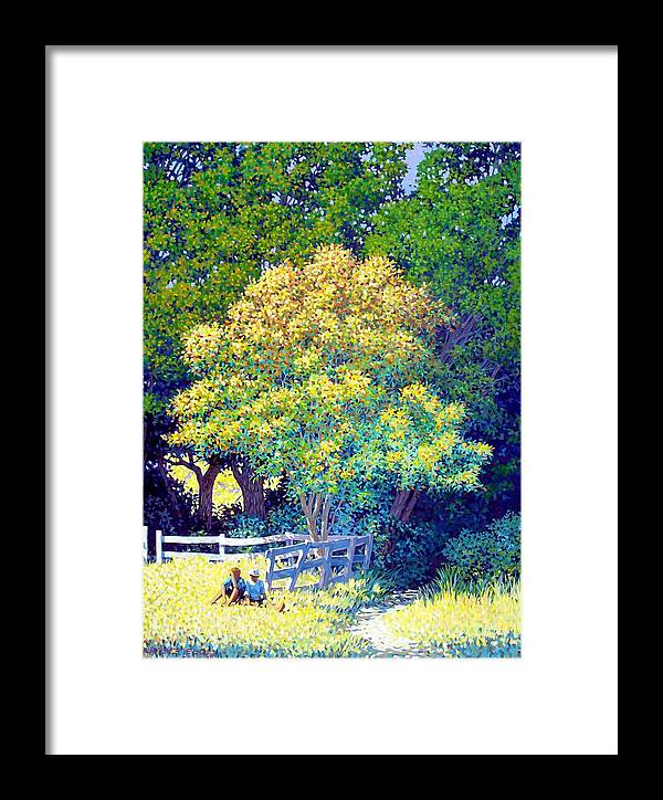 Children Framed Print featuring the painting Lost Spies by Kevin Lawrence Leveque