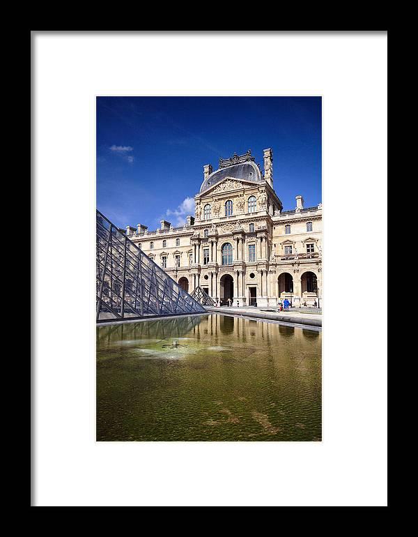 Louvre Framed Print featuring the photograph Louvre Museum Architecture Paris by Pierre Leclerc Photography