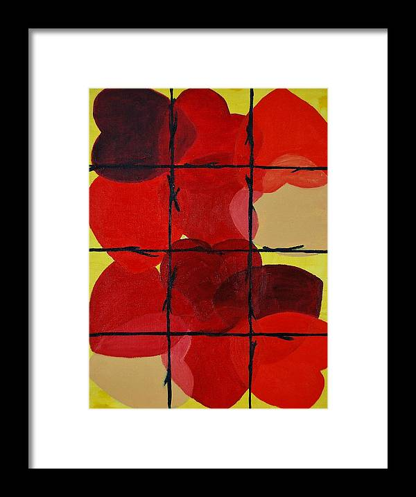 Love Framed Print featuring the painting Love No Categories Please by Charla Van Vlack