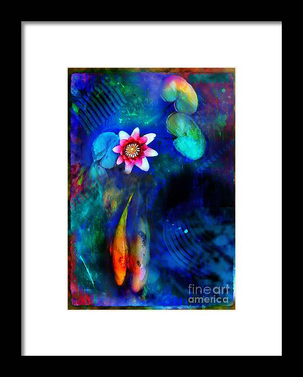 Koi Ponds Framed Print featuring the photograph Lovers by Gina Signore