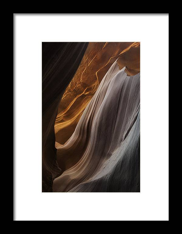 Slot Framed Print featuring the photograph Lower Antelope Canyon 2199 by Bob Neiman