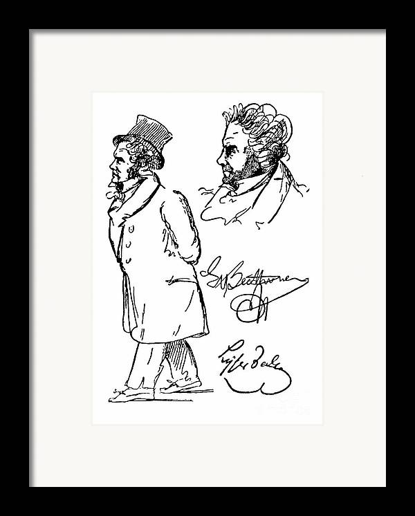 18th Century Framed Print featuring the photograph Ludwig Van Beethoven by Granger