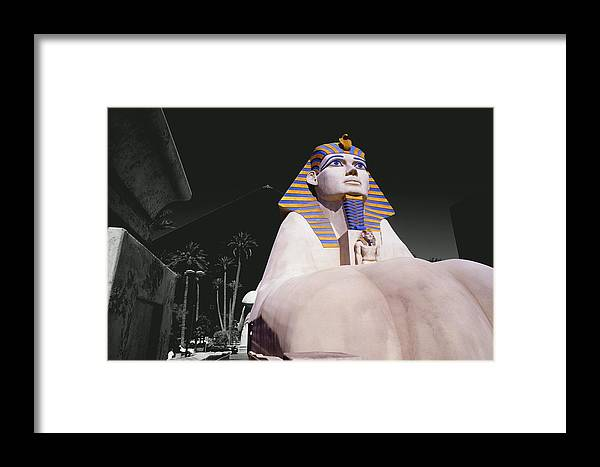 Photography Framed Print featuring the photograph Luxor Sphynx by Tom Fant