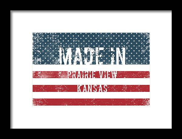 Prairie View Framed Print featuring the digital art Made In Prairie View, Kansas by Tinto Designs