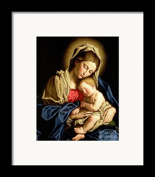 Mary Framed Print featuring the painting Madonna And Child by Il Sassoferrato