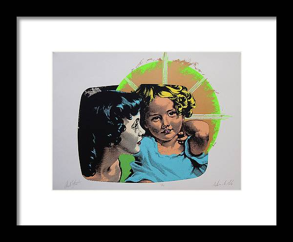Madonna And Child Framed Print featuring the mixed media Madonna De Milo by Charles Stuart
