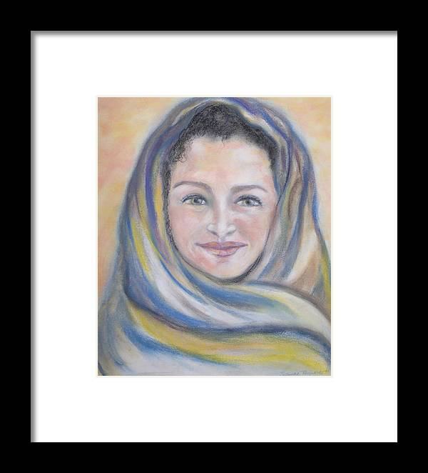 Catholic Art Framed Print featuring the painting Magdalena by Suzanne Reynolds