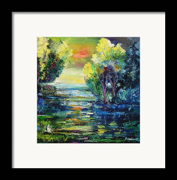 Pond Framed Print featuring the painting Magic Pond by Pol Ledent